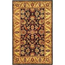 border black gold area rugs rugs the home depot
