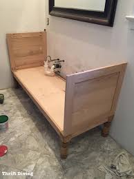 Mission Style Vanities Bathroom How To Build A 60 Diy Vanity From Scratch Your Own Plans
