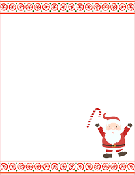 santa letter template free word templates