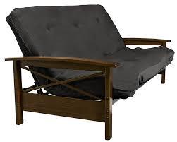 dhp furniture dhp davis full size wood arm futon