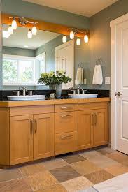 Upscale Bathroom Vanities Bathroom Vanity With Wood Cabinets Sinks Slate Tile