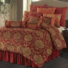 Black And Red Comforter Sets King Lorenza Medallion Dark Red Velvet Comforter Bedding