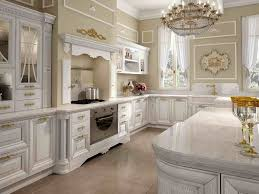 White Kitchen Cabinets With Glass Doors Kitchen Light Brown Thomasville Kitchen Cabinet With White Marble