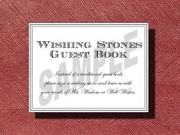 wishing rocks for wedding wedding wishing guest book sign wishing stones