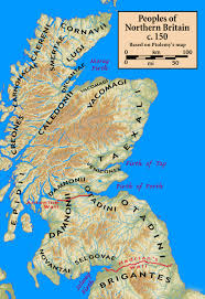 Stirling Scotland Map Peoples Of Northern Britain According To Ptolemy U0027s Map Mind