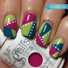geometric nail art u0026 gelish you u0027re such a sweet tart u2013 chickettes