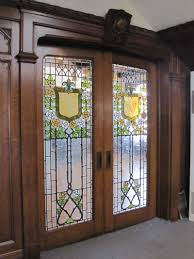antique bookcase glass doors vintage stained glass doors