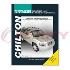 lexus rx300 chilton repair manual base shop service garage book ih
