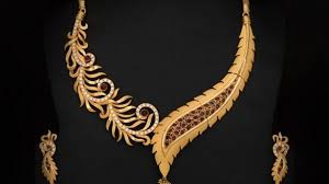 gold necklace patterns images Surprising design necklace gold wedding bridal broad designs real jpg