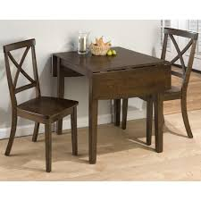 Drop Leaf Table With Chairs with Jofran Taylor Cherry 3 Piece Drop Leaf Kitchen Table U0026 Side Chair