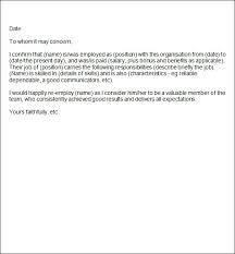 ideas of sample of reference letter for an employee on cover