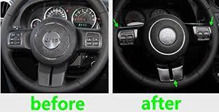 4 Door Jeep Interior Opall Set Black Interior Trim Kit For 4 Door Jeep Wrangler Jk