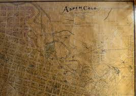 Aspen Map Aspen Colorado Scarce Original 1896 Aspen Town Map By W C