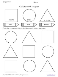 colors and shapes worksheet for primary grades