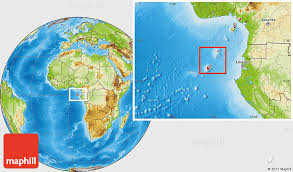 map of sao tome physical location map of sao tome and principe