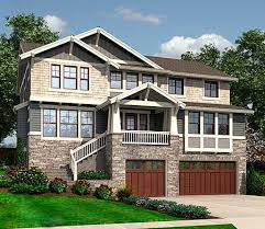 front sloping lot house plans house designs for sloped lots homes zone