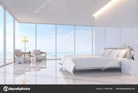 chambre avec meuble blanc moderne blanc chambre avec image rendu vue mer carrelage blanc