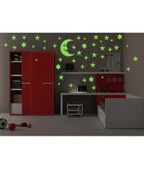 wall whispers glow in dark 40 moon and stars wall stickers buy wall whispers glow in dark 40 moon and stars wall stickers