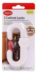 clippasafe cabinet lock 2 pack amazon co uk baby