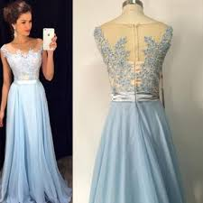 lolipromdress review 49 off long sexy blue a line sleeveless zipper appliques prom