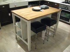 ikea freestanding kitchen island bench breakfast bar oak top ebay