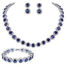 blue cubic zirconia necklace images 413 best women silver jewelry sets images 1 don 39 t jpg