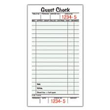 free guest check presenters guest checks at office depot officemax