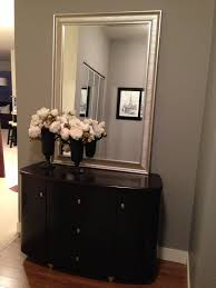 my new entryway paint color and mirror benjaminmoore storm