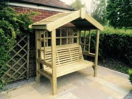 Garden Bench With Trellis by Corner Arbour Seat Forest Limoge Arbour Not Supplied Painted