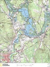 Kayak Map Canoe U0026 Kayaking Map Of Mansfield Hollow Lake