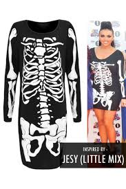 Skeleton Halloween Dress by Jesy Black U0026 White Skeleton Bodycon Halloween Dress Clothing