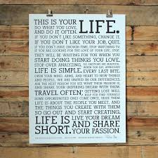 letter press the holstee manifesto original letterpress poster this is your