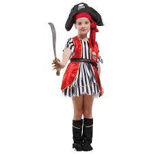 Toddler Boy Pirate Halloween Costumes Girls Pirates Sweet Heart Swashbuckler Performance Kids Dress