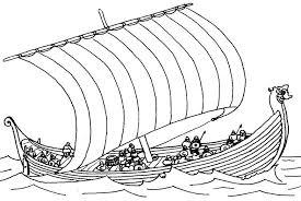 viking ship color dessincoloriage