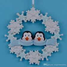 maxora penguin family of 2 3 4 5 resin hang ornaments