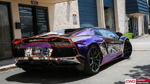 chrome wrapped cars miami car wraps