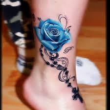 colorful rose tattoo inspiration