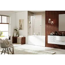 tub with glass shower door wet republic aurora equinox 58 in h x 48 in w frameless pivot