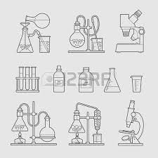 vector set chemical designer flat design the test tube beaker
