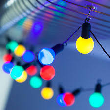 4 5m 10 multi coloured battery powered leds festoon lights