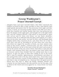 washington s prayer george washington s prayer journal excerpt