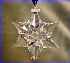 snowflake 2000 annual tree ornament nib mint