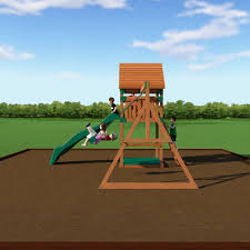 Backyard Playground Slides by Trek Wooden Swing Set Playsets Backyard Discovery