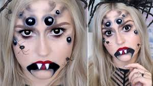Halloween Scary Makeup Tutorial by Creepy Spider Halloween Makeup Arachnid Queen Tutorial Youtube