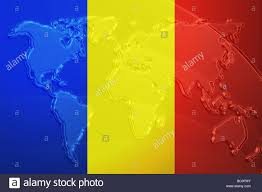 World Map Country Flags Flag Of Romania National Country Symbol Illustration With World