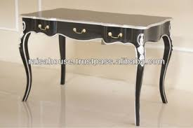 french style writing desk french furniture french 3 drawers writing desk black heavy silver