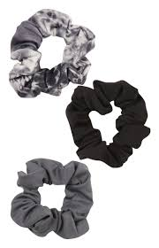 primark hair accessories primark 3 pack grey print scrunchies vetetments clothing