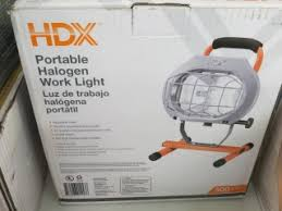 hdx portable halogen work light online auction home renovations closes feb 27 in london ontario