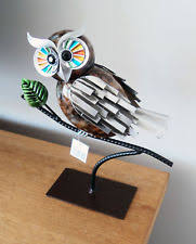 ornaments figurines metal owl collectables ebay