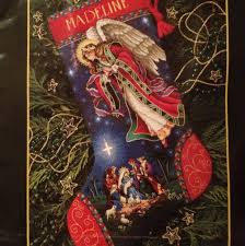 heavenly herald angel christmas stocking dimensions gold cross